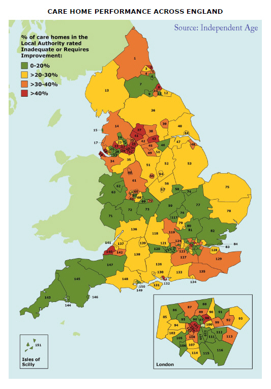Map Of England 2100.Centre For Policy On Ageing Policies On Ageing